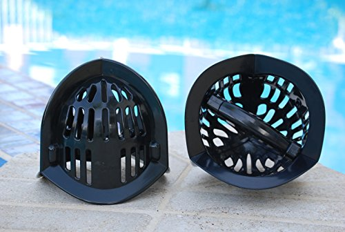 AquaLogix Black All Purpose Omni-Directional Aquatic Bells - Upper Body Pool Exercise Equipment - Includes Online Demonstration Video with 30 Sample Exercises (Bells Pair MRBBS) by AquaLogix