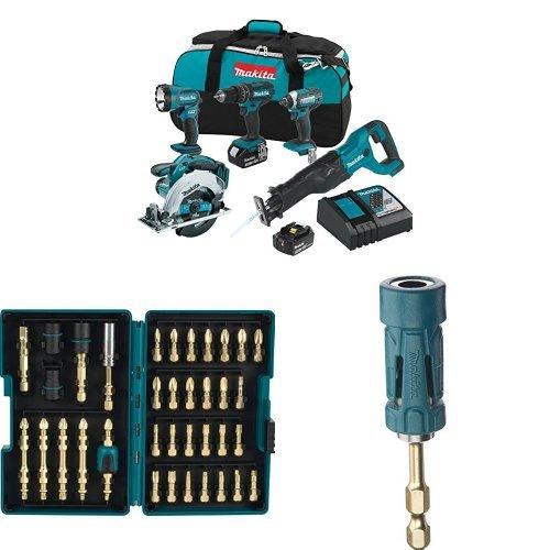 Makita-XT505-18V-LXT-Lithium-Ion-Cordless-Combo-Kit-5-Piece