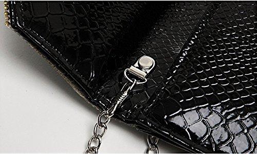 Bolso de mano, bolso de mano del diamante de la manera, con un bolso del paquete del diamante, bolso de hombro diagonal del diamante ( Color : Oro ) La Plata