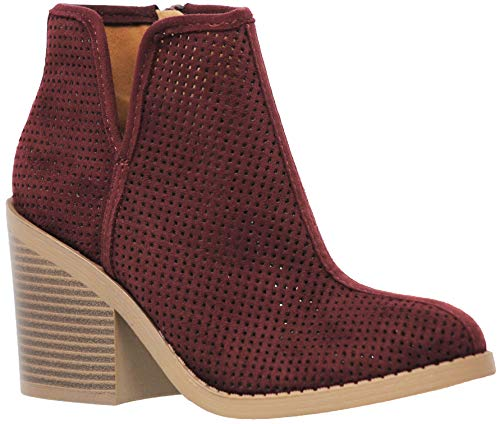 MVE Shoes Women Casual Ankle Bootie, Tarpon vino ISU 10