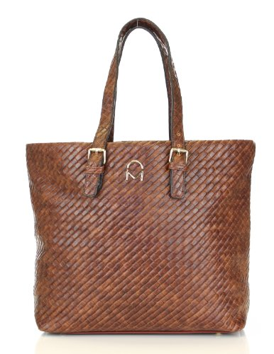 Noble Mount Weave Texture Enchanted Tote Handbag – Brown, Bags Central