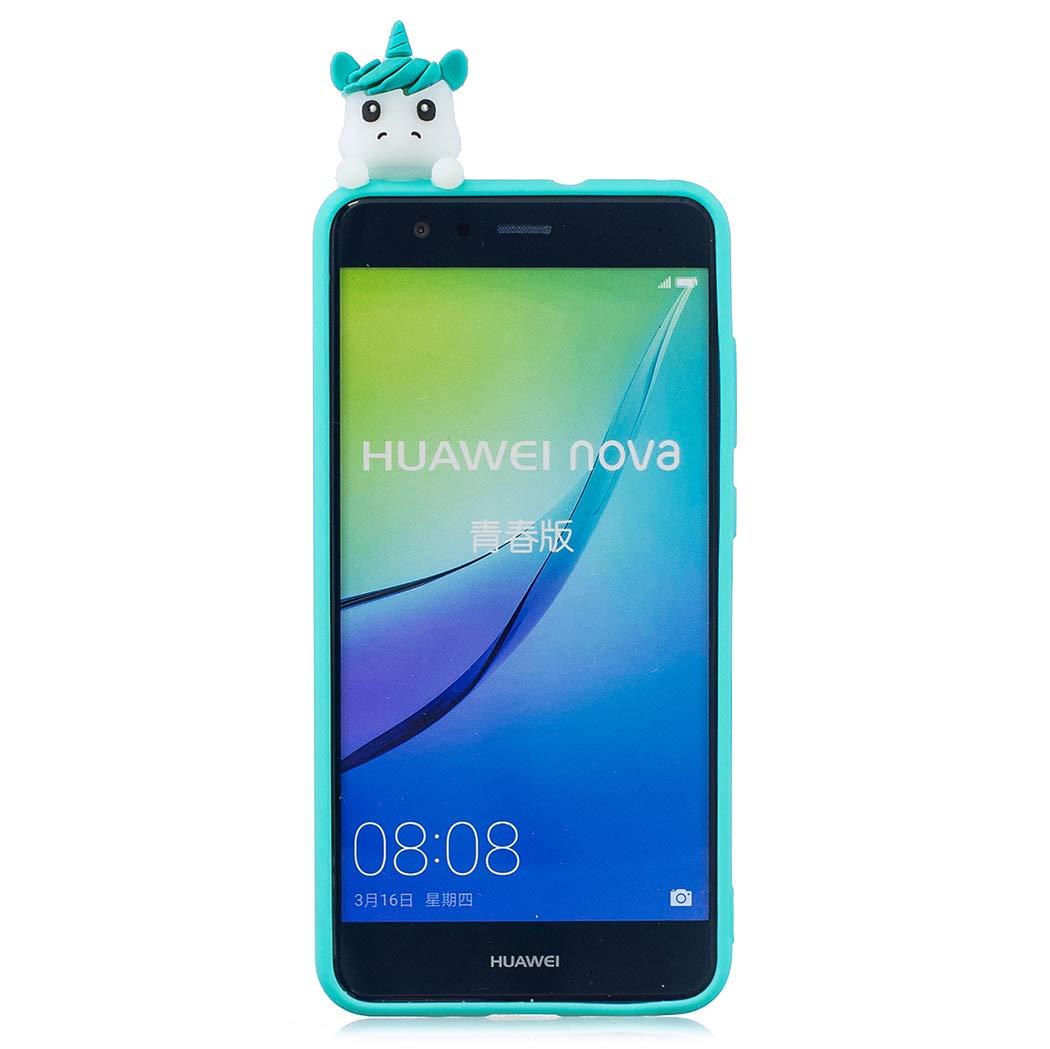 EuCase Funda Huawei P10 Lite Silicona 3D Dibujos Carcasa Huawei P10 Lite Antigolpes Suave TPU Flexible Goma Ultra Delgada Cubierta Protector Bumper Case para Caja Tapa Carcasa Iceberg