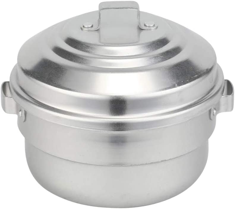 Kyyte Anodised(Hindalium) Aluminium Idli Maker/Non-Whistling Traditional Idli Cooker/Idlipot, Cooking 9 Idlis Size 9, White Color, LPG Stove Compatible Only