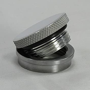 ALUMINUM Stepped Bung FOR ALUMINUM TANKS ONLY VENTED or NON-VENTED Motorcycle Polished Aluminum Gas//Fuel Tank Cap Harley Chopper Bobber Cafe Racer