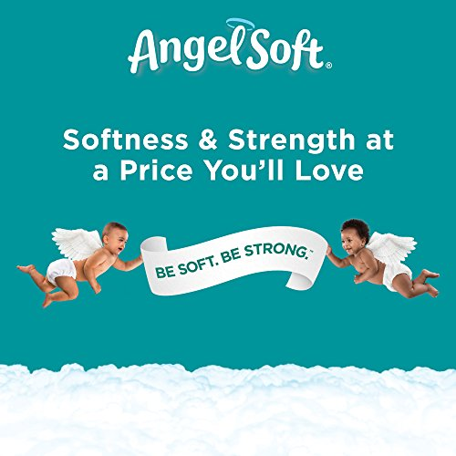Angel Soft Toilet Paper, 24 Mega Rolls, 24 = 96 Regular Rolls, Bath Tissue, 4 Packs of 12 Rolls