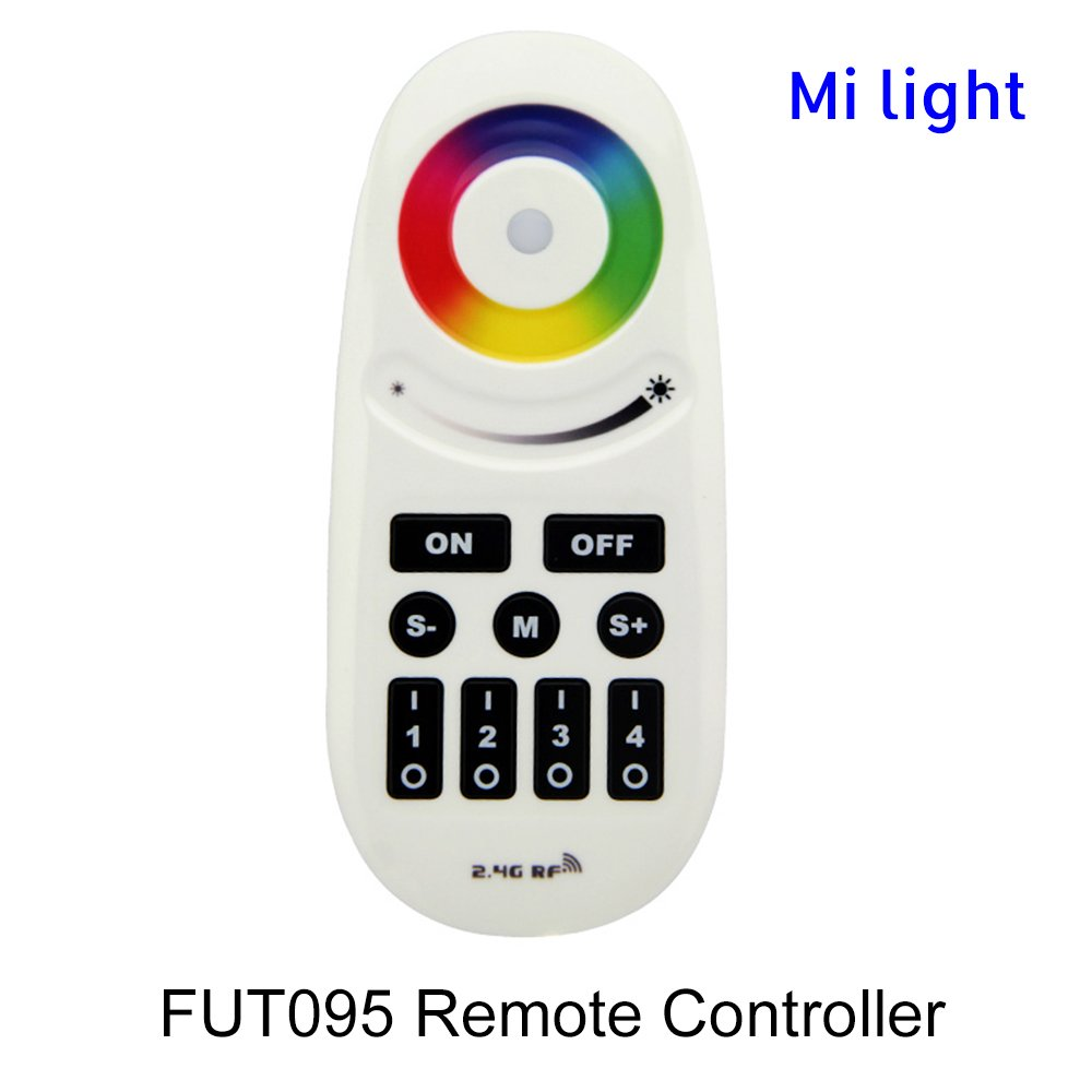 BSOD Milight FUT095 Remote Controller RGBW with Buttons RF2.4GHz Adjustable Brightness (RGBW-4 channel)