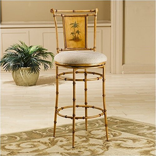 Hillsdale Furniture 4330-824 West Palm Swivel Counter Height Stool, Burnished Brown