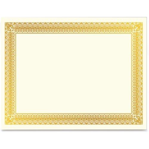 Geographics Gold Foil Certificate - Laser, Inkjet Compatible - Gold with Gold Border15 / Pack ()