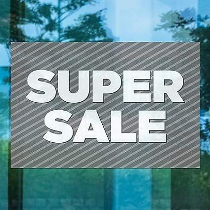 CGSignLab Super Sale 36x24 Stripes Gray Window Cling