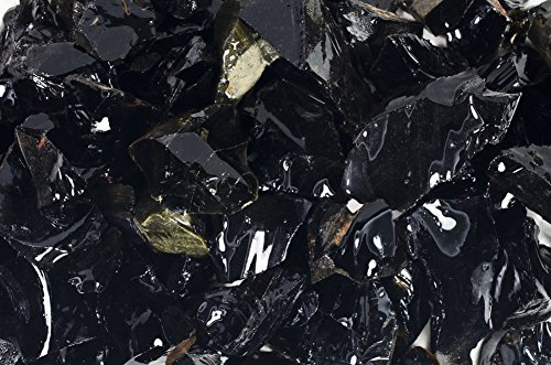 Fantasia Materials: 1 lb of Black Obsidian Rough Stones from Mexico - Raw Natural Volcano Glass Crystals for Cabbing, Cutting, Lapidary, Tumbling, Polishing, Wire Wrapping, Wicca & Reiki Healing