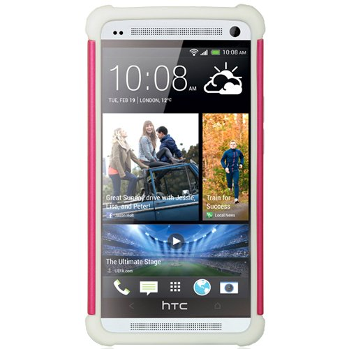 Dual Diamond Back Cover with Silicone Skin For HTC ONE M7 4.7-inch Super LCD 3 (NEWEST 2013 VERSION) + Screen Protector + Bluetooth Speaker by eBigValue (Image #3)