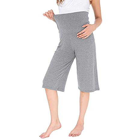 Zegeey Pantalones Largos Premamá 3/4 Pantalones de Yoga Leggings ...