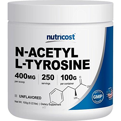Nutricost Pure N Acetyl L Tyrosine (NALT) Powder 100 Grams