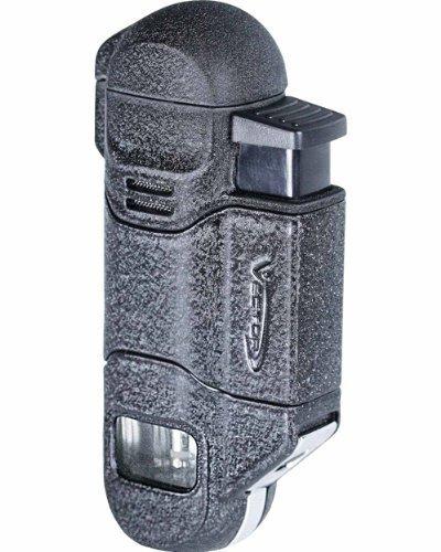 Vector 05 Radar Triple [3] Flame Cigar Lighter Black Crackle Matte by (Black Crackle Matte)