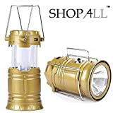 Shop4All LED Solar Emergency Light Lantern + USB Mobile Charging+Torch Point, 2 Power Source Solar, Lithium Battery, Travel Camping Lantern - (Assorted Colours)