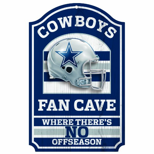 NFL Dallas Cowboys Fan Cave Wood Sign, 11