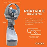 O2COOL Deluxe Misting Fan, 1, Grey