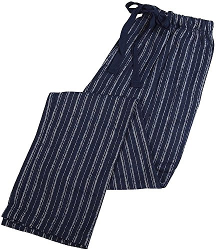B.O.P.J. - Mens Flannel Striped Sleep Pant, Navy,White 38532-Medium - Striped Mens Sleep Pant