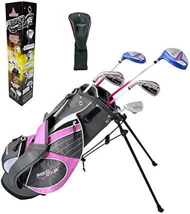 Paragon Rising Star Girls Kids Golf Clubs Set Ages 5-7 Pink with Free Golf Gift