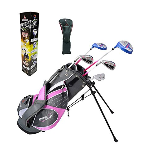 Paragon Golf Girls Golf Club Set, Pink, Ages 5-7 - Left Handed