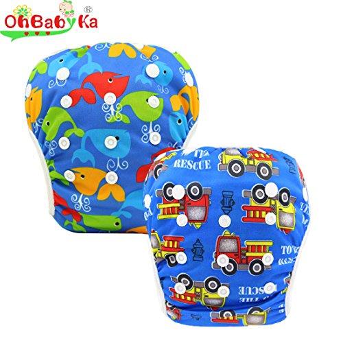 OHBABYKA Baby Reusable Swimming Diaper Adjustable Unisex Pants