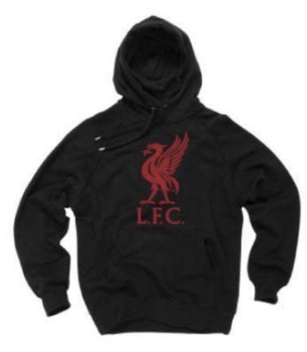 Authentic! Anfield Shop Liverpool FC Black LIVERBIRD Hoodie
