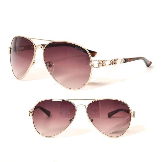 finest selection 7b0ec 57355 Guess Damen Sonnenbrille GF6044-6232F Braun (Marrón) 62.0 ...
