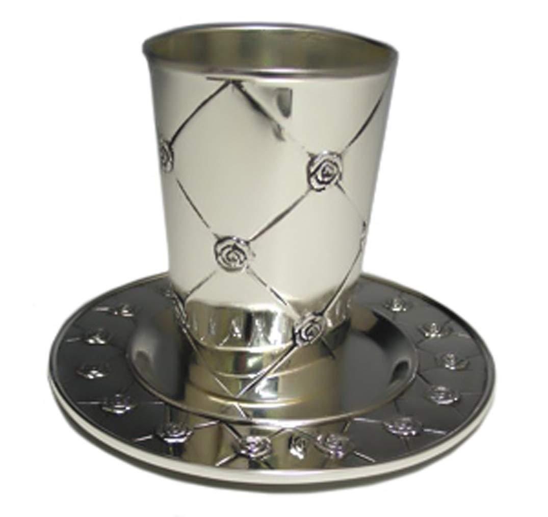 Judaica Roses Kiddush Cup with Tray Legacy Judaica SYNCHKG029224