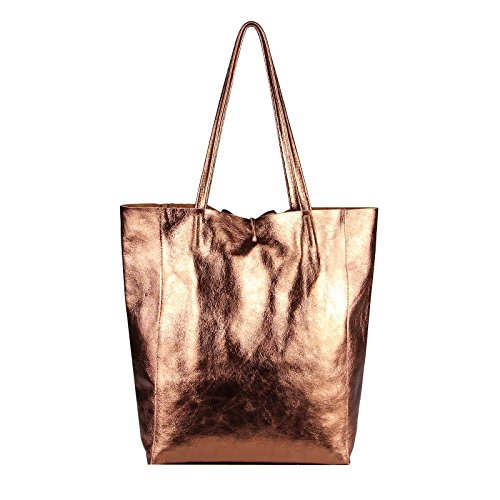 Rosa Ca A Mano beautiful 38x36x9 Bronze metallic Cm Rosa couture schlange Borsa Obc Donna Only bxhxt nUqv88