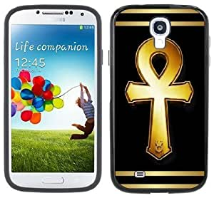 Egypt Egyptian Ankh Handmade Samsung Galaxy S4 Black Bumper Hard Plastic Case