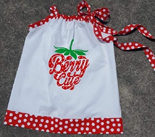 Berry Cute Strawberry Polka Dot PIllowcase Dress