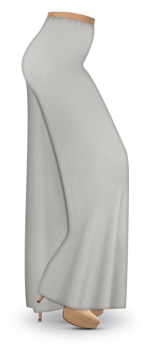 Silver Gray Slinky Wide Leg Plus Size Supersize Palazzo Pants LG