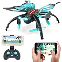 Beyondsky JJRC H42 Foldable RC Drone Butterfly-like Aerial Photography 3D LED Flips and Rolls Wifi Selfie Quadcopter Drone with HD HD Camera (H42 Standard Package)