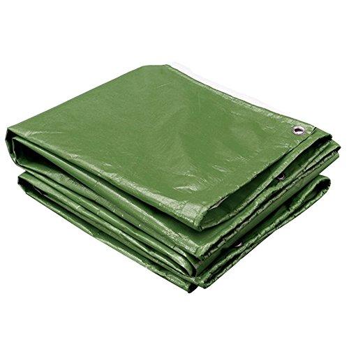 GLJ Verdicken Sie LKW-Öl-Plastikregenproofregenstofffarbstreifen-Tuchregenmantelplanen-Sonnenschutz Wasserdichte Plane Plane (Farbe   Army Grün+Silber, größe   3x4m)