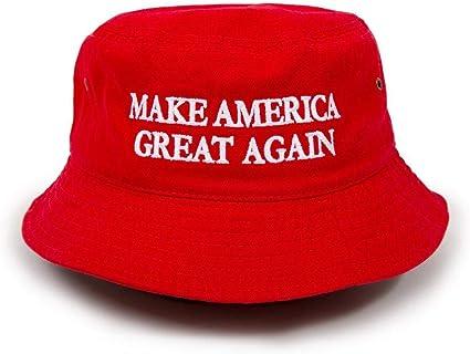 Bd2020 Trump Slogan Make America Great Again Bucket Hat Red