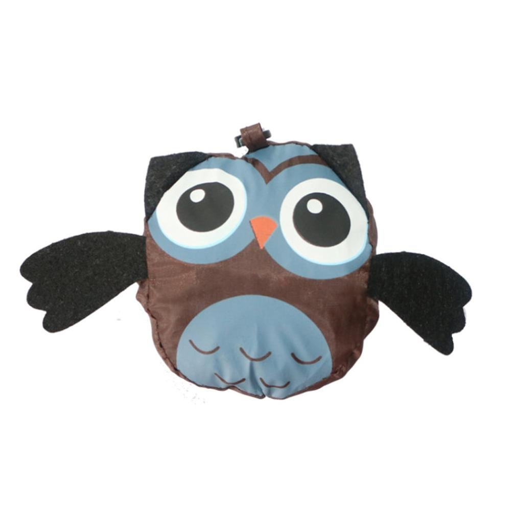 Cinhent Bag, Newly Waterproof Owl Folding Shopping Bag, Cute Animal Environmental Reusable Creative Storage Bag, Supermarket Grocery Portable Pouch, 37 × 57 CM, Easy to Carry and Large Capacity (D)