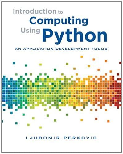 Introduction To Computing Using Python An Application Development