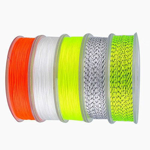 Isafish Backing Fly Fishing Line 100 Yard 30LB Extension Braided Fly Fishing Backing Line Spare Line Yellow/Black (Fly Yellow Backing Line)