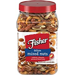 You can find all of your favorite nuts right here in Fisher Deluxe Mixed Nuts. Sorry peanuts, you're out. It's all the nuts you love and no picking around the peanuts anymore. Our classic, clear jar highlights the unsurpassed quality o...