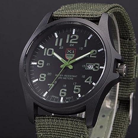 Kycut - Reloj de pulsera analógico de cuarzo para hombre (acero inoxidable)