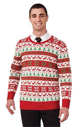 Forum Novelties Plus Size Winter Wonderland Novelty Christmas Sweater, Multi, X-Large