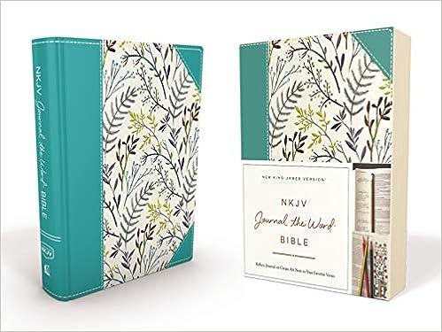 NKJV, Journal the Word Bible, Cloth over Board, Blue Floral