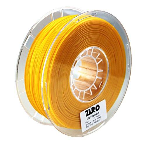 ZIRO 3D Printer Filament PLA 1.75 1KG(2.2lbs), Dimensional Accuracy +/- 0.05mm, Orange