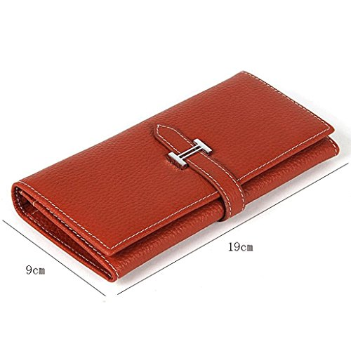 Wqq Folder Leather Long Bag Section Men Fashion 8rrEO