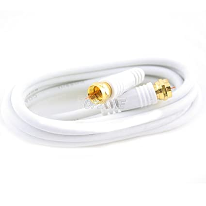 "Topzone 3 feet RG59 Coaxial Cable ""F"" Plug to "" ..."