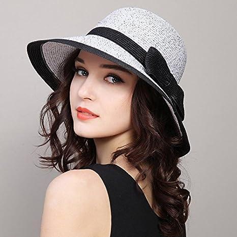 RangYR Sombrero De Mujer Sra. Cap Gorras Sombreros De Sol De Verano  Sombreros De Paja 78d00b61ed9