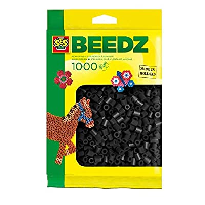 SES Creative Iron On Beads, Black, 1000-Pack: Toys & Games