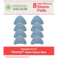 8 Replacement for Hoover Steam Pads Fit WH20200 & WH20300 Steam Mops, Compatible With Part # WH01000, Washable & Reusable, by Think Crucial