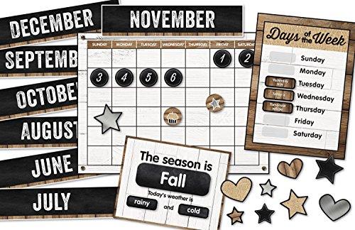 Schoolgirl Style Industrial Chic Bulletin Board Set, Calendar (Calendar Set)