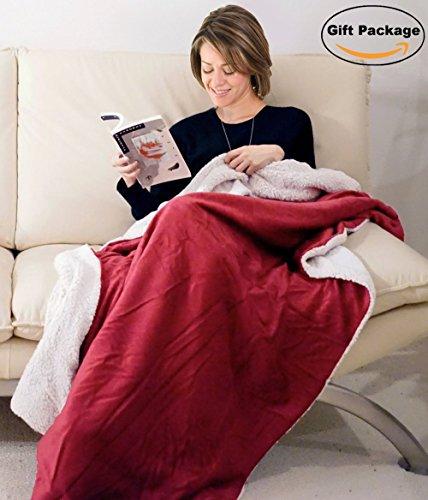 Napa Sherpa Throw Blanket Wine product image